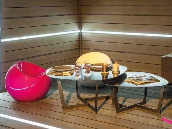Engineered wood garden partition with light LED FENCING BOARD by Silvadec