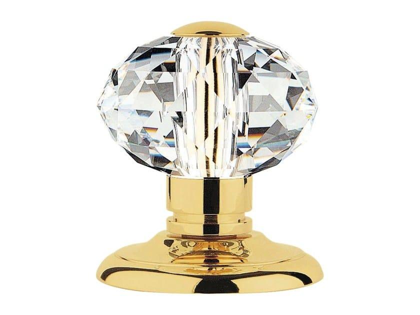 Chromed brass door knob with Swarovski® Crystals VERONICA | Door knob by LINEA CALI'