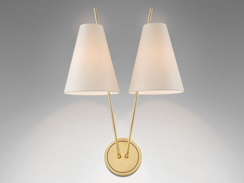 Wall lamp with fixed arm ZWEIG | Brass wall lamp by Kalmar