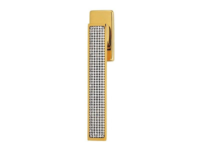 DK chromed brass window handle with Swarovski® Crystals on rose ZEN MESH | DK window handle by LINEA CALI'