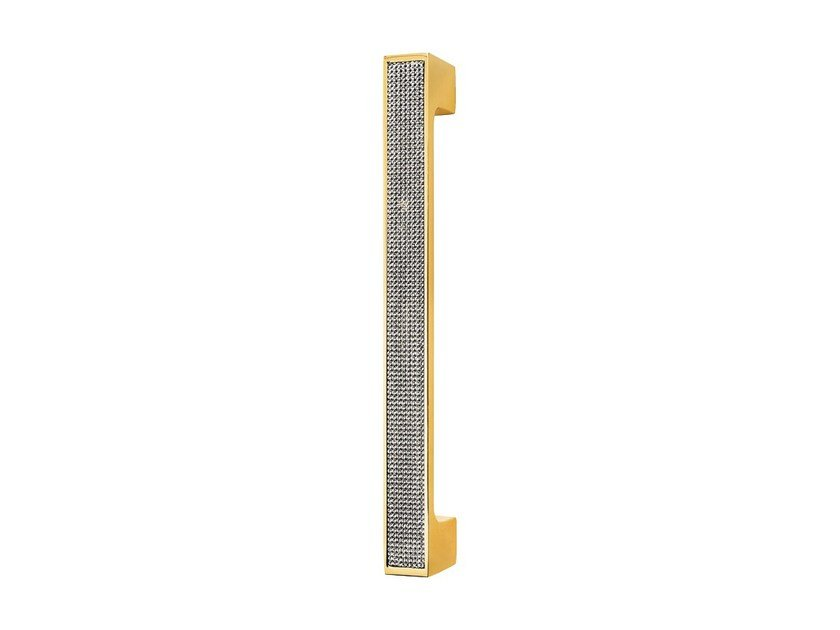 Chromed brass pull handle with Swarovski® Crystals ZEN MESH | Pull handle by LINEA CALI'