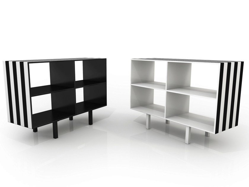 Open double-sided shelving unit SIMBOLO | Bookcase by altreforme