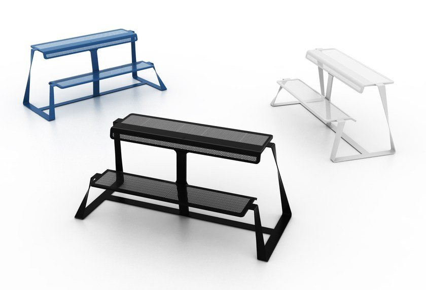 Panchina in metallo T-BENCH by altreforme