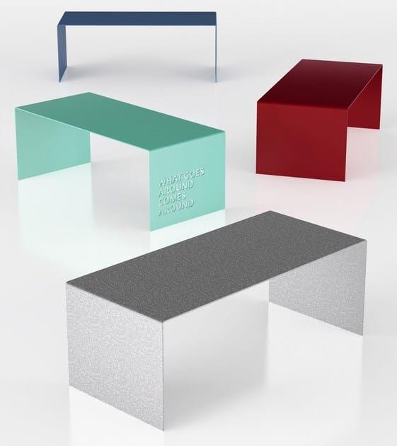 Rectangular aluminium table PLEX by altreforme