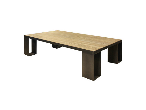 Rectangular oak coffee table for living room CANADA | Coffee table by Ph Collection