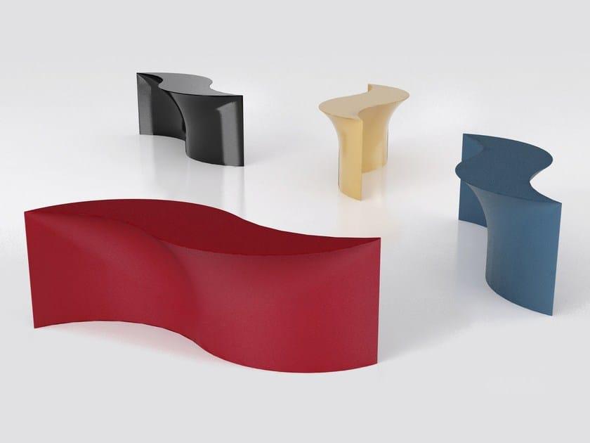 Aluminium console table MARIÙ by altreforme