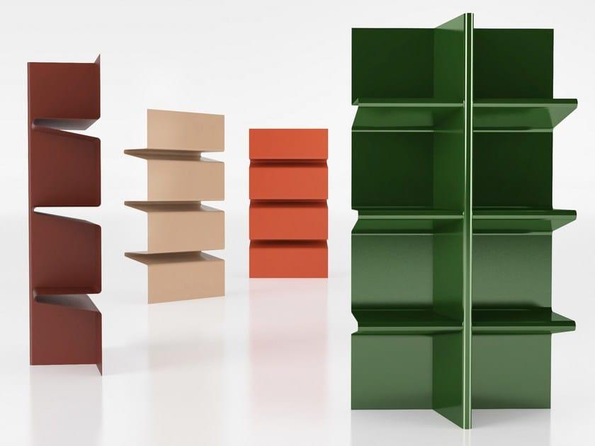 Open sectional aluminium bookcase CIOCCOLATA by altreforme