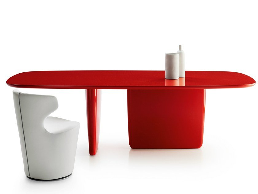 Lacquered rectangular table TOBI-ISHI | Rectangular table by B&B Italia