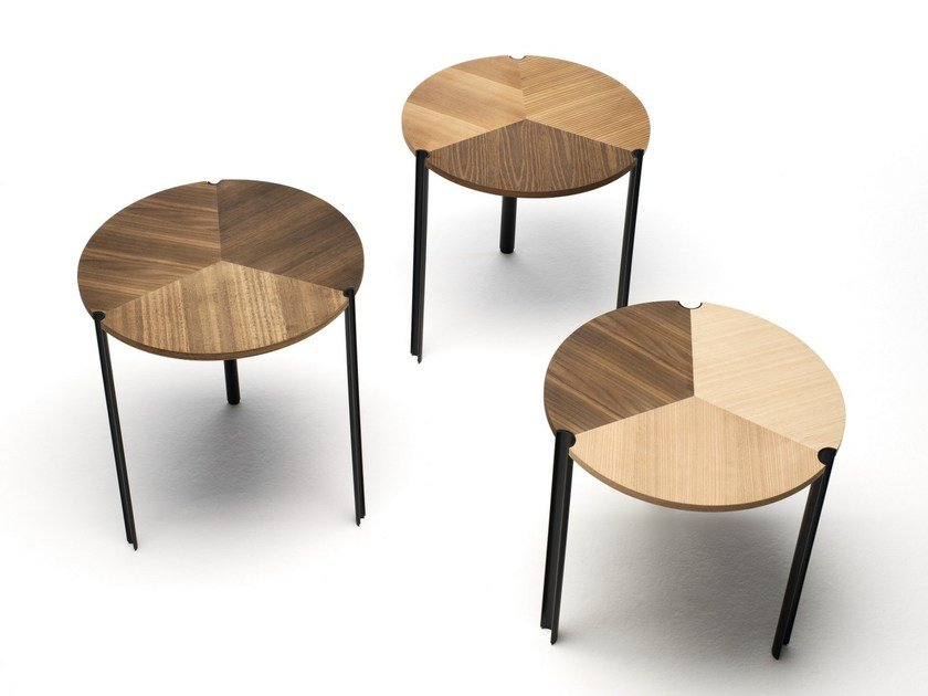 Low stackable modular wooden coffee table STARSKY by Living Divani