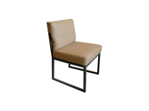 Sled base upholstered chair PRATO | Chair by Ph Collection