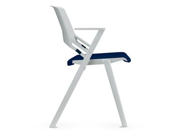 Plastic chair with linking device with armrests GREEN'S | Plastic chair by SitLand