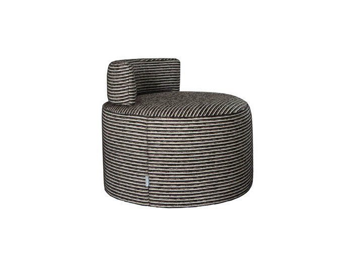 Upholstered fabric armchair ROTONDE | Armchair by Ph Collection
