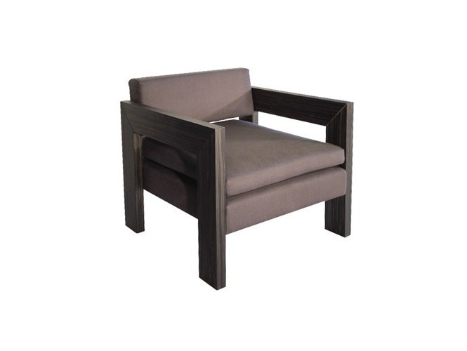 Easy chair with armrests CROCO | Easy chair by Ph Collection
