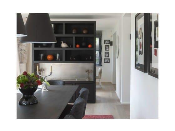 Wood veneer highboard with doors CHEMINEE | Highboard by Ph Collection