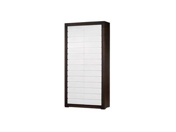 Wood veneer highboard with doors QUADRA   Highboard by Ph Collection