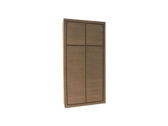 Wood veneer highboard with doors CHARLY | Highboard by Ph Collection