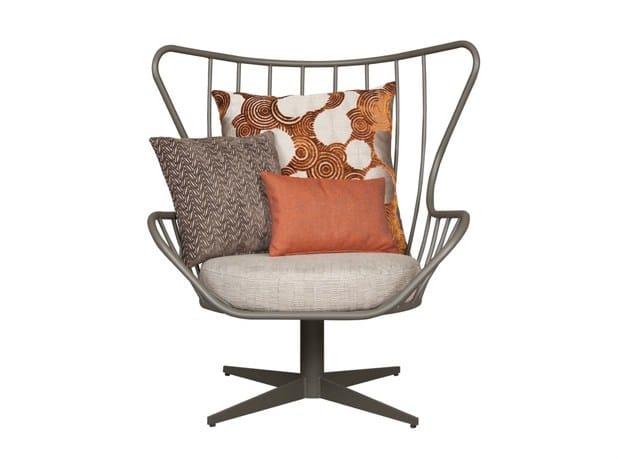 Iron armchair with 4-spoke base INGA by Hamilton Conte Paris