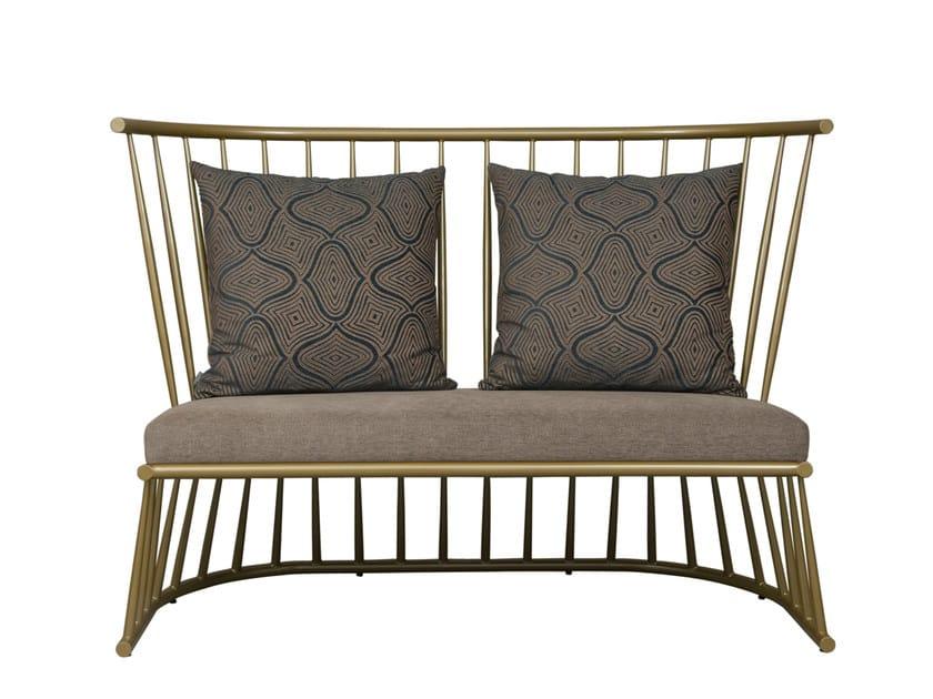 Iron small sofa WINDSOR | Small sofa by Hamilton Conte Paris
