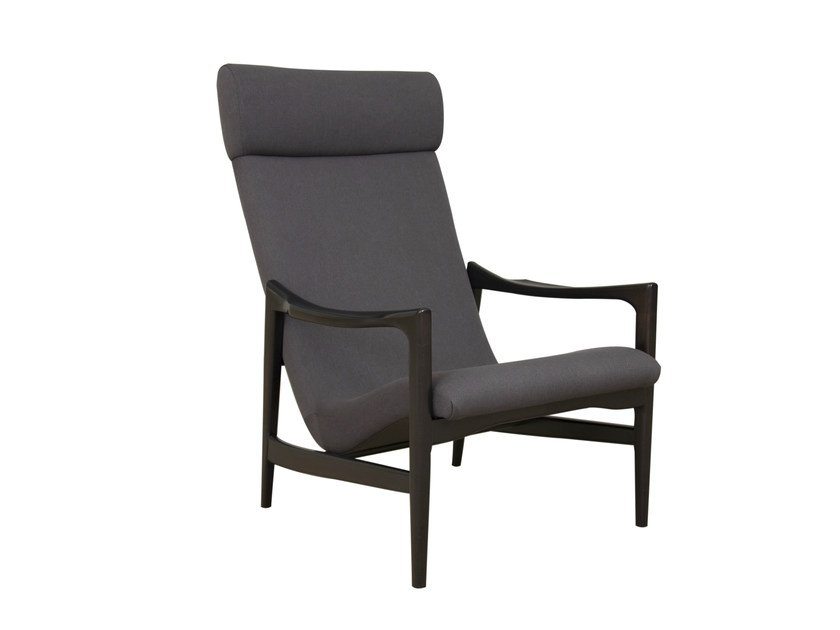 Fabric armchair with armrests KYRIL by Hamilton Conte Paris