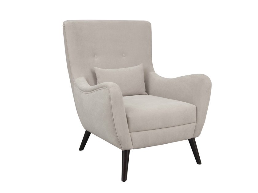 Fabric armchair with armrests MAXIMO by Hamilton Conte Paris