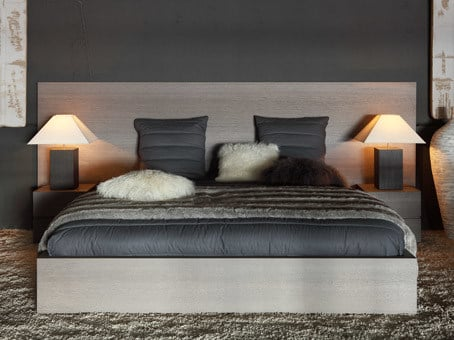 Wood veneer double bed LAGO | Bed by Ph Collection