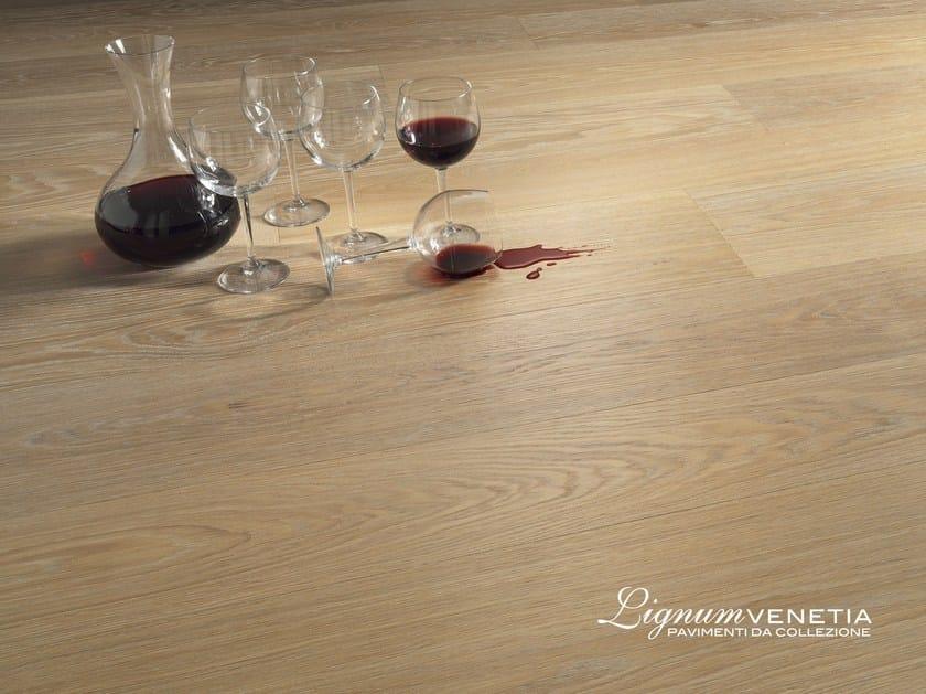 Brushed oak parquet LAGUNA by Lignum Venetia