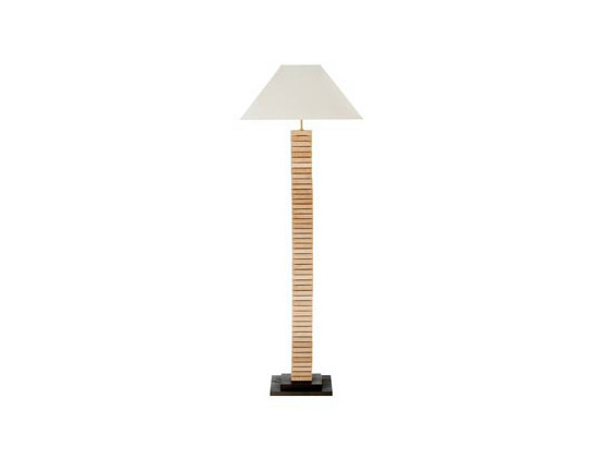 Direct-indirect light oak floor lamp AJOURE | Floor lamp by Ph Collection