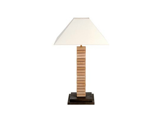 Direct-indirect light oak table lamp AJOURE | Table lamp by Ph Collection