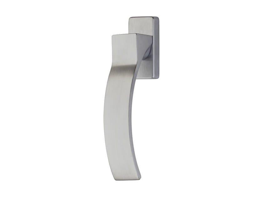 DK chromed brass window handle on rose ELIOS | DK window handle by LINEA CALI'