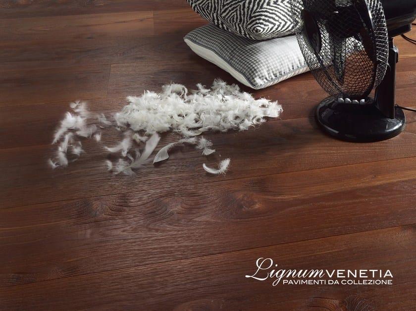 Brushed acacia parquet MASCHERE by Lignum Venetia