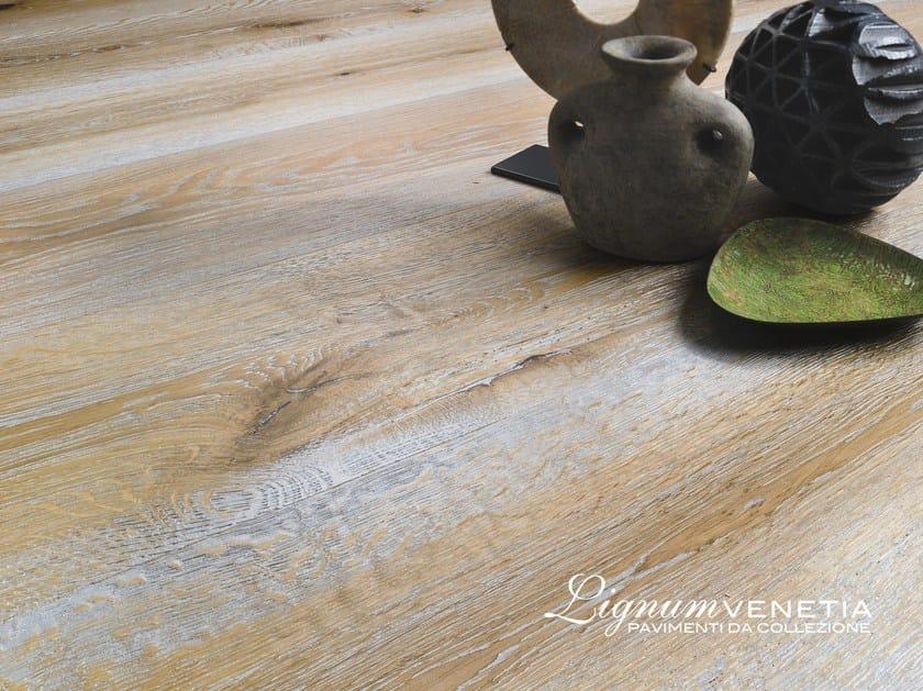 Brushed oak parquet NUVOLE by Lignum Venetia