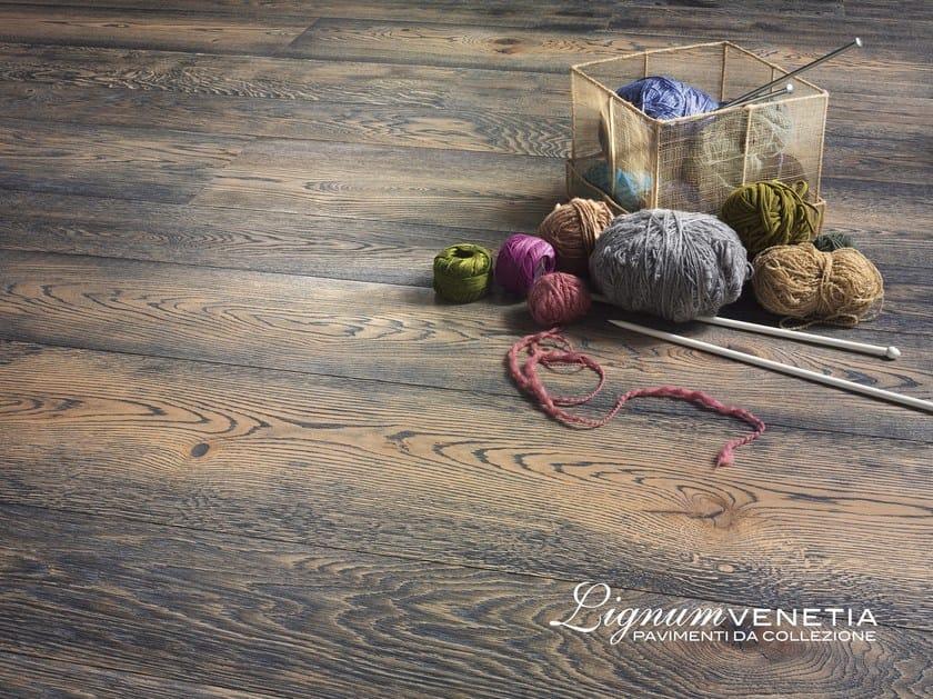 Brushed oak parquet RUGIADA by Lignum Venetia