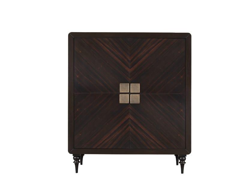 Wood veneer highboard with doors ORICK 4 DOOR CABINET by Hamilton Conte Paris