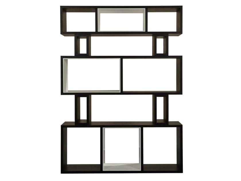 Open wood veneer bookcase HYRAGANA   Open bookcase by AZEA