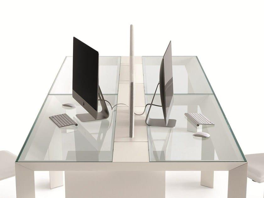 Workstation screen desktop partition KOY SCREEN by Gallotti&Radice