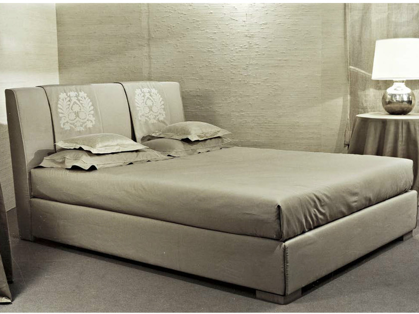 Fabric double bed with upholstered headboard ROSSOCREMISI by SOFTHOUSE