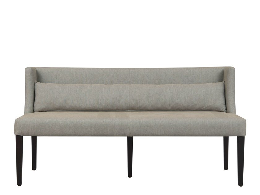 Fabric bench with back ONA by Hamilton Conte Paris