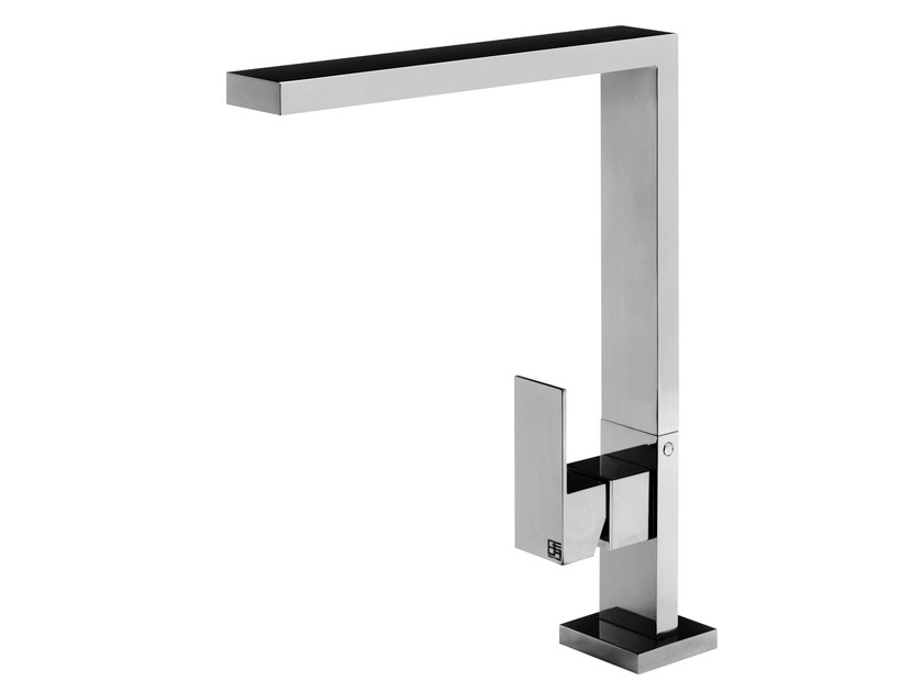 Chrome-plated single handle washbasin mixer HITO CINQUANTUNO | Countertop washbasin mixer by GEDA