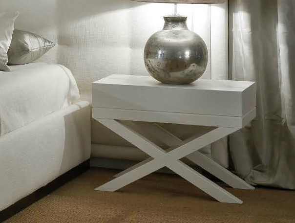 Rectangular wooden bedside table FUMODILONDRA | Bedside table by SOFTHOUSE