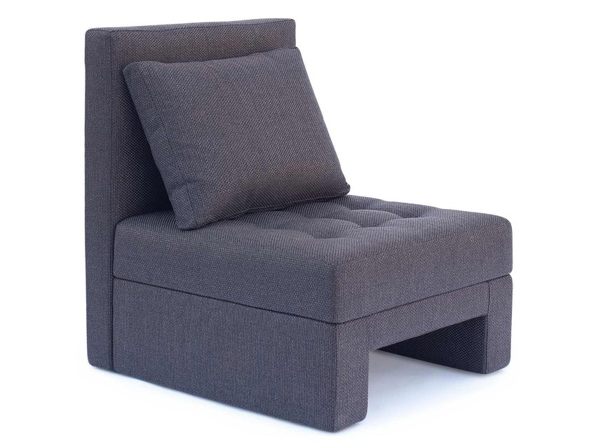 Upholstered fabric armchair PRINCE | Fabric armchair by AZEA