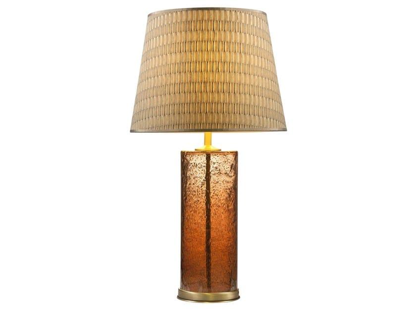 Brass table lamp LAVA by Hamilton Conte Paris