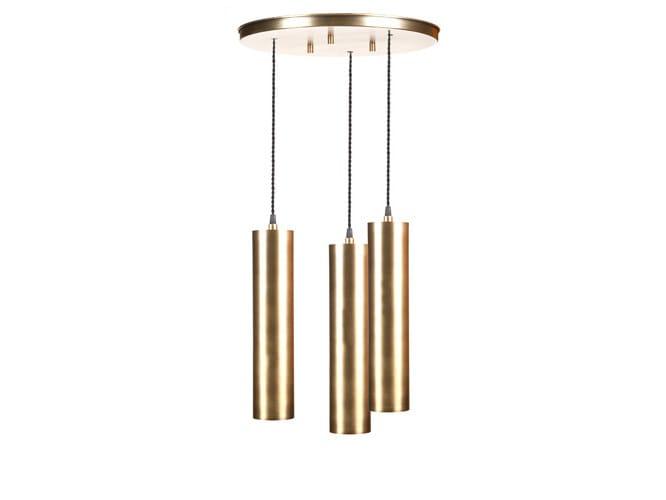 Brass pendant lamp TURIA by Hamilton Conte Paris