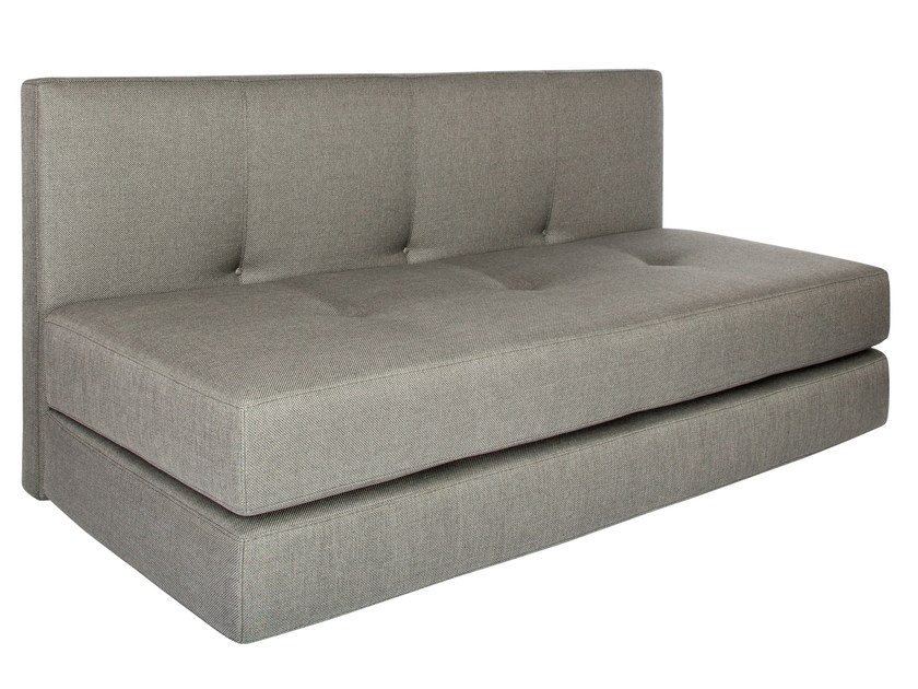 2 seater fabric sofa bed KUBO | Upholstered sofa bed by AZEA