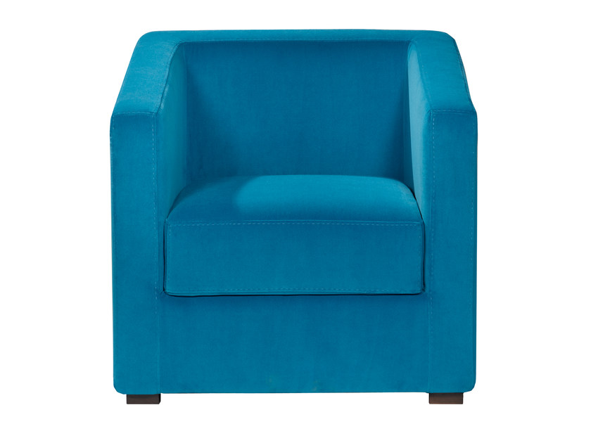 Upholstered velvet armchair with armrests MAAS by AZEA