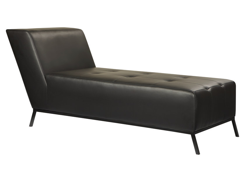 Upholstered leather day bed KAAS by AZEA