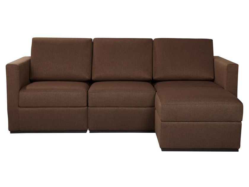 Sectional 3 seater fabric sofa KAST by AZEA