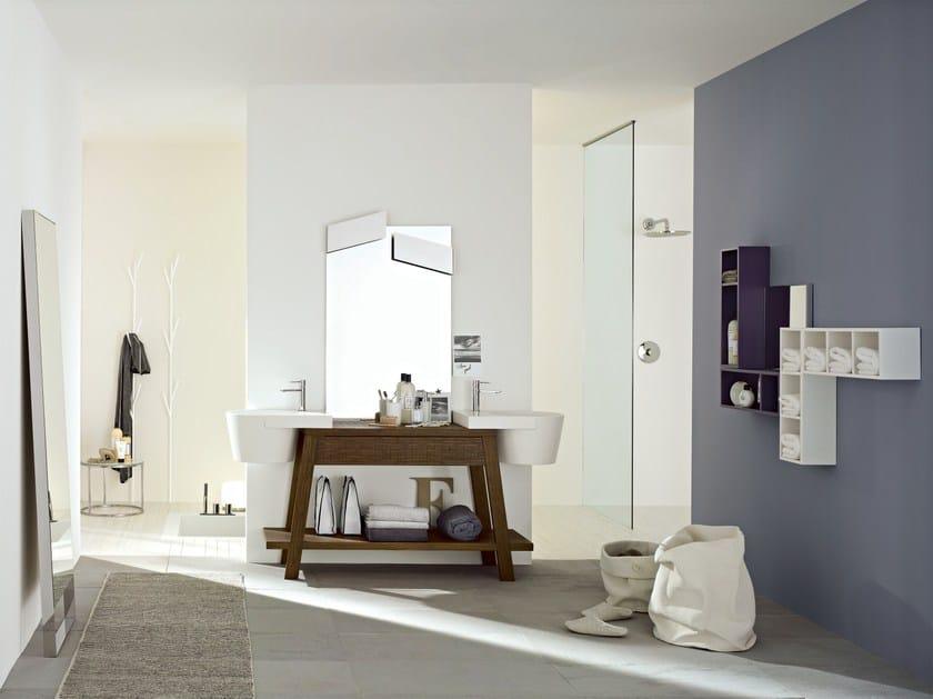 Bathroom furniture set CANESTRO - COMPOSITION C04 by NOVELLO