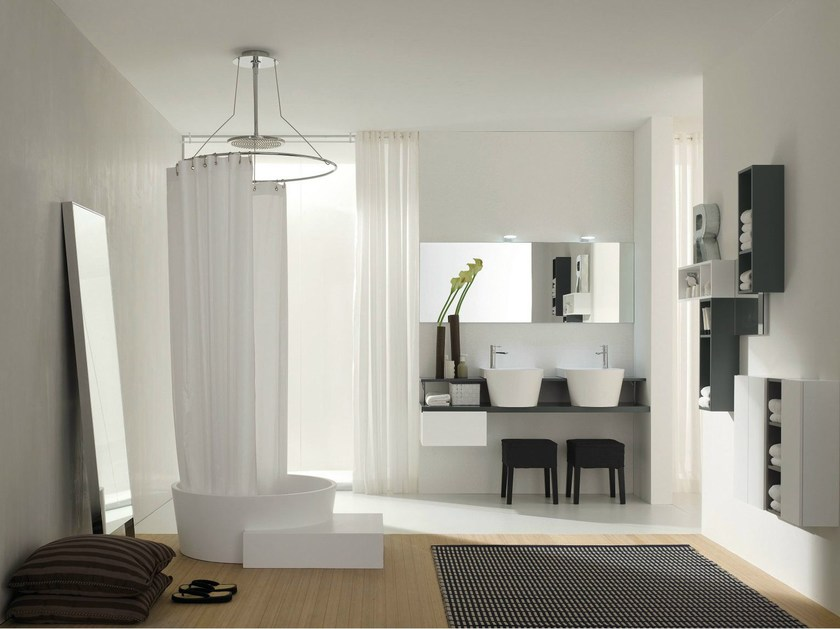 Bathroom furniture set CANESTRO - COMPOSITION C09 by NOVELLO