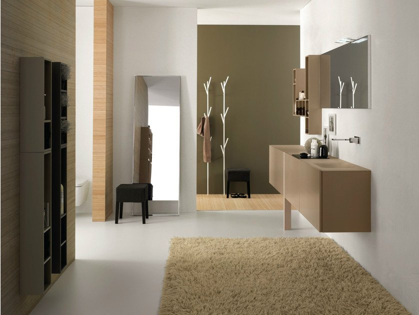 Bathroom furniture set CANESTRO - COMPOSITION C02 by NOVELLO