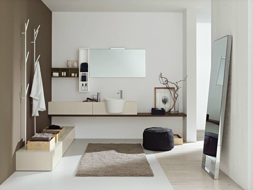 Bathroom furniture set CANESTRO - COMPOSITION C03 by NOVELLO